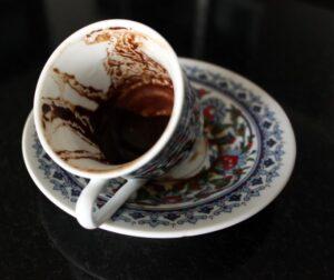 Lectura del café procedimiento